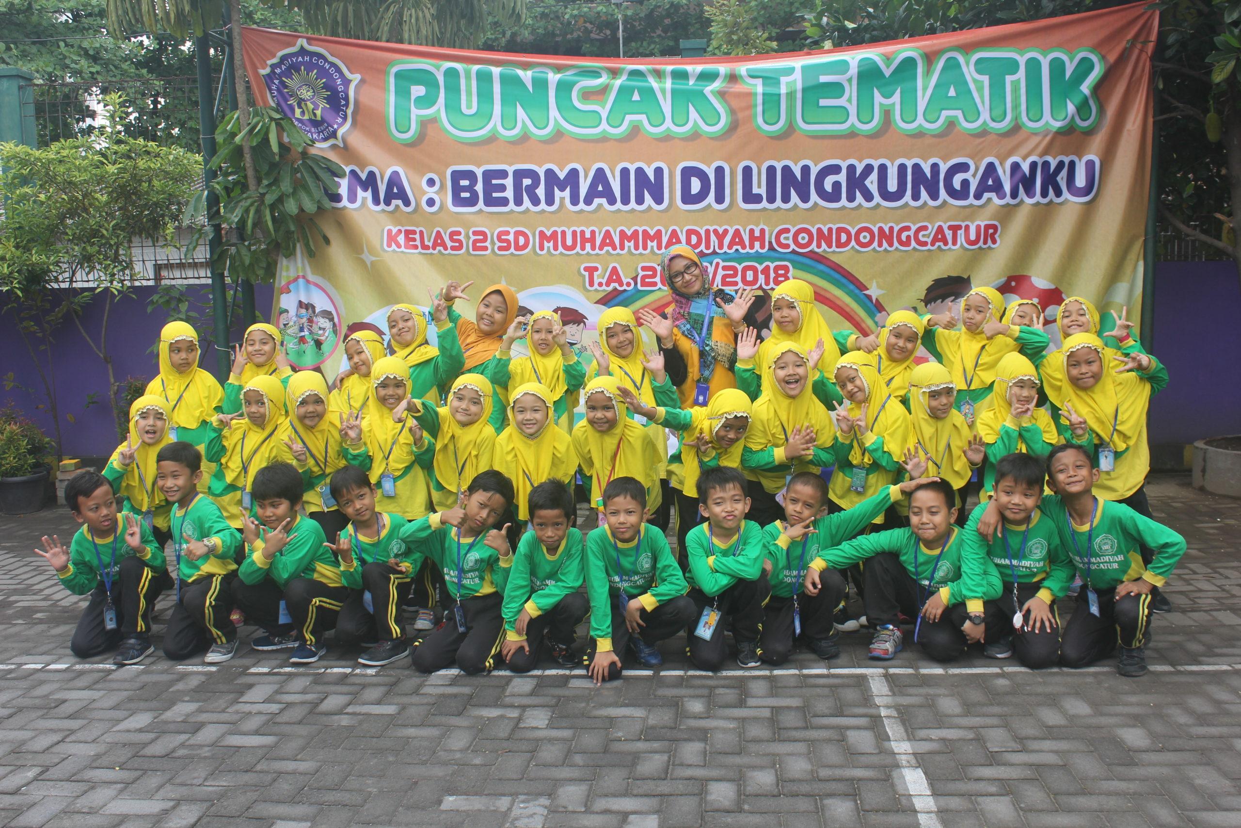 Usung Tema Bermain Di Lingkunganku, Kelas 2 SD Muhammadiyah Condongcatur Sukses Selenggarakan Puncak Tematik