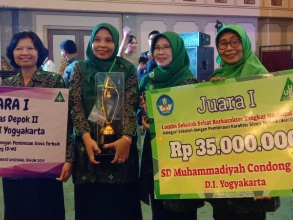 SD Muhammadiyah Condongcatur Juara I Lomba Sekolah Sehat Berkarakter Tingkat Nasional 2019